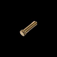 Modelbouw bout M1,2 x 10 - Lage kop - Messing - 10 stuks