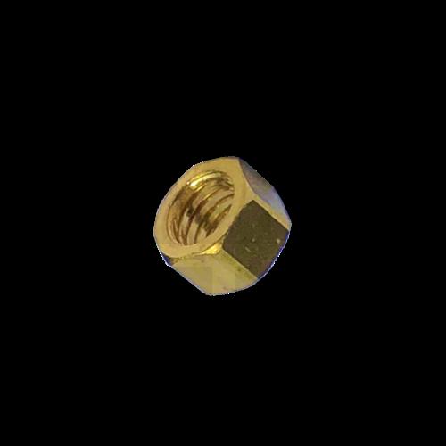 KING Microschroeven Modelbouw moer M1,2 - Hoog - Messing - 10 stuks