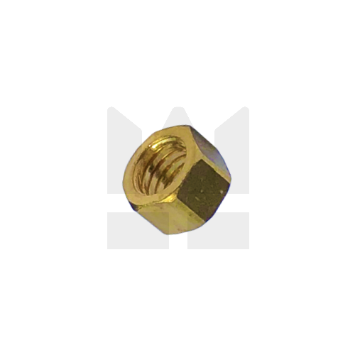 KING Microschroeven Modelbouw moer M1,6 - Hoog - Messing - 10 stuks