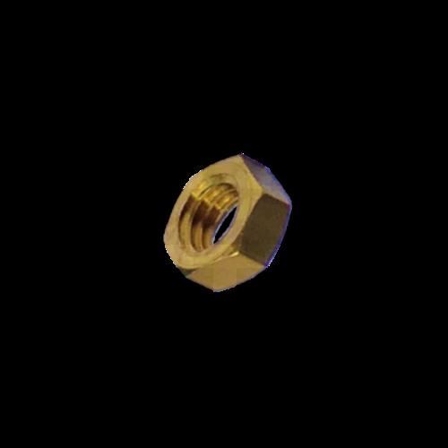 KING Microschroeven Modelbouw moer M1,2 - Laag - Messing - 10 stuks