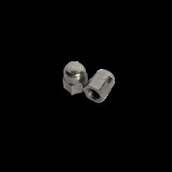 Modelbouw dopmoer M2 - Messing vernikkeld - 10 stuks
