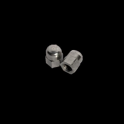 KING Microschroeven Modelbouw dopmoer M2 - Messing vernikkeld - 10 stuks