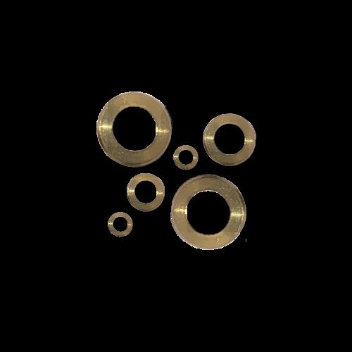 KING Microschroeven Modelbouw Sluitring M1,2 - Gedraaid - Messing - 25 stuks