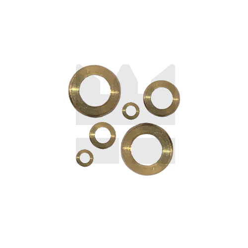 KING Microschroeven Modelbouw Sluitring M2,5 - Gedraaid - Messing - 25 stuks