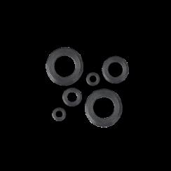 Modelbouw Sluitring M1,2 - Gedraaid - Staal - 25 stuks