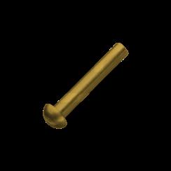 Klinknagel bolkop - Messing - 2 x 10 mm - 50 stuks