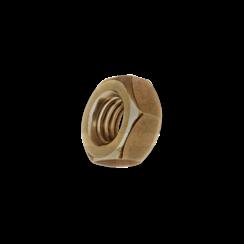 Zeskantmoer - DIN 934 - Messing  M1,2 - GEDRAAID