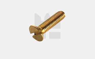 Verzonken kopschroef DIN 963 - Messing