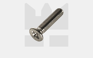 Verzonken kruiskop schroef  - M1,6