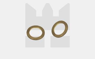 Sluitringen cilinderkop - DIN 433 - Messing