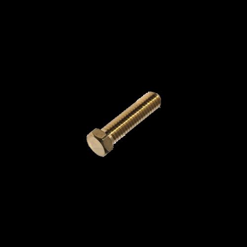 KING Microschroeven Modelbouw bout M2,5 x 12 - Lage kop - Messing - 10 stuks