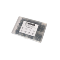 KING Microschroeven AS280 - Houtschroef Platkop - DIN 97 - Messing