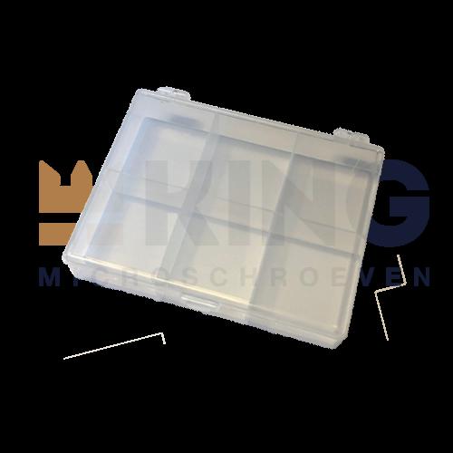KING Microschroeven Assortimentsdoos - 6-vak - LEEG