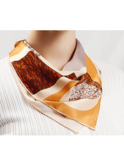 Silk scarf dynasty brown