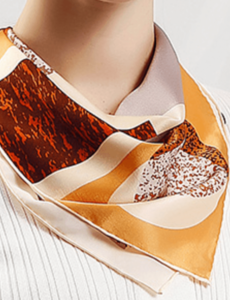 Silk scarf dynasty brown