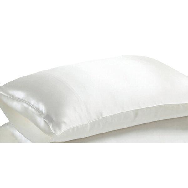 Funda de almohada de seda 19momme marfil