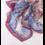 Foulard en soie bleu 100% soie