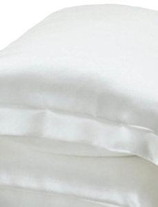 Taies d'oreiller en soie 19mm ivoire