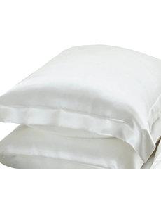 Taies d'oreiller en soie 19mm blanc ivoire
