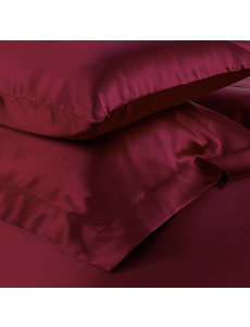 Silk pillowcase 19mm wine red
