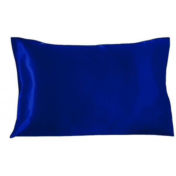 Funda de almohada de seda 19momme azul zafiro