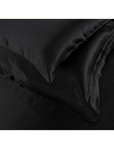 Zijden kussensloop 19mm zwart