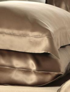 Funda de almohada de seda 19mm cappuccino