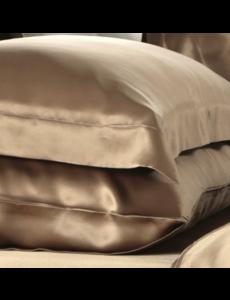Silk pillowcase 19mm cappuccino