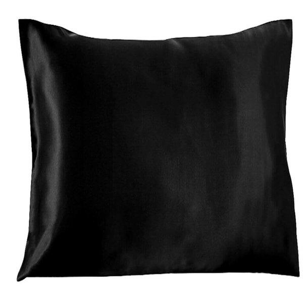 Funda de almohada de seda 22momme negro