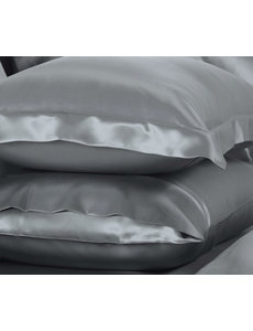 Silk pillowcase 22mm silvergrey