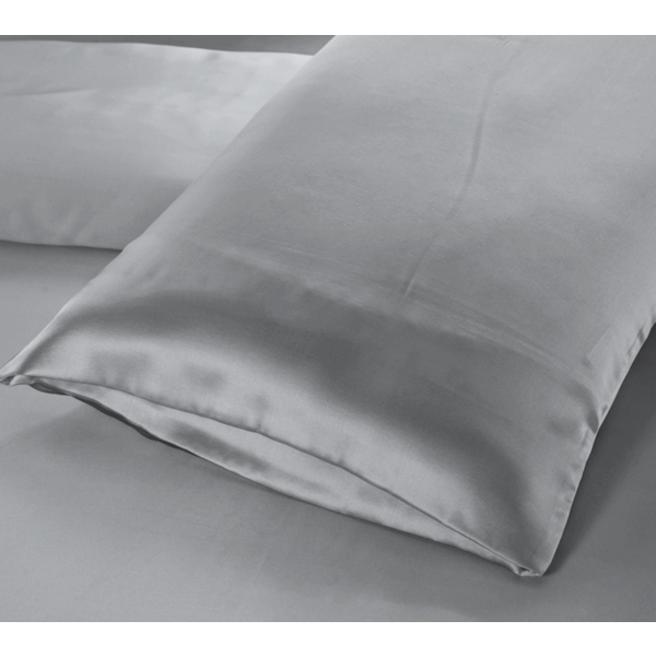 Silk pillowcase 22momme silvergrey