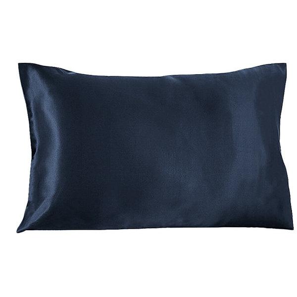 Funda de almohada de seda 22momme azul marino