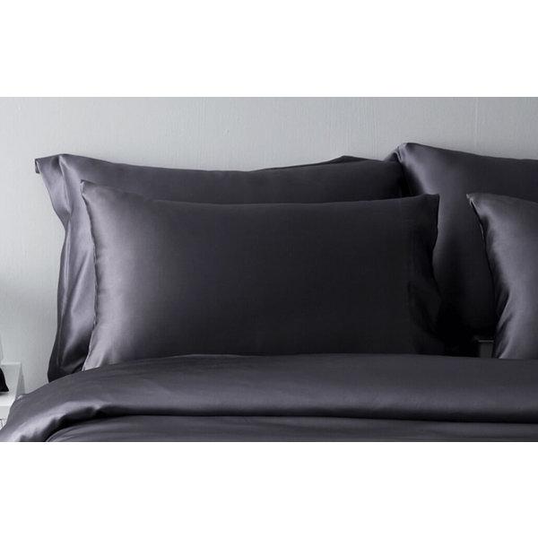 Funda de almohada de seda 22momme antracita