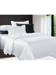 Silk duvet cover 19mm pure white