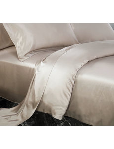 Silk duvet cover 22mm light brown