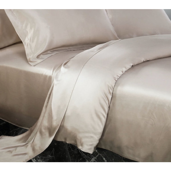 Silk duvet cover 22momme light brown