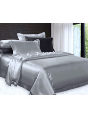 Silk duvet cover 22mm silvergrey