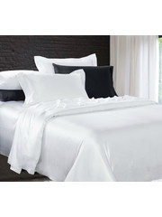 Silk duvet cover 22mm pure white