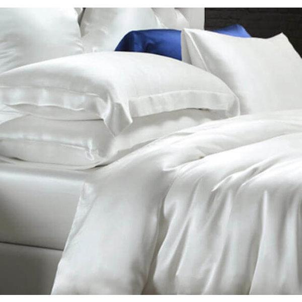 Silk duvet cover 22momme ivory white