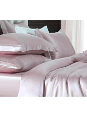 Silk duvet cover 19mm vintage rose