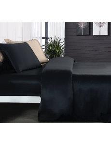 Zijden dekbedovertrek 19mm zwart
