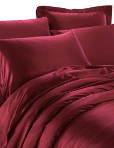 Zijden dekbedovertrek 19mm wijn rood