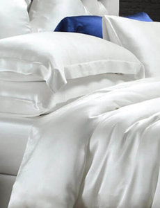 Silk duvet cover 19mm ivory white