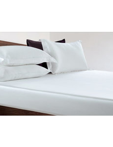 Silk fitted sheet 22mm pure white