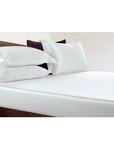 Drap housse en soie 22mm blanc ivoire