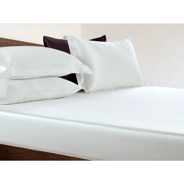 Silk fitted sheet 22momme ivory white