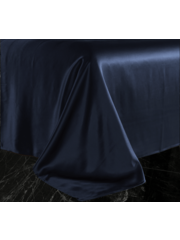 Silk flat sheet 22mm Oxford blue