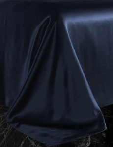 Drap en soie 22mm bleu marine