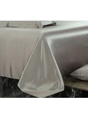 Silk flat sheet 19mm pearl grey