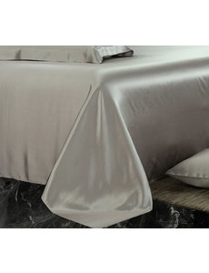 Silk flat sheet 19mm pearl grey